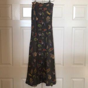 Show me your mu mu high wasted maxi skirt